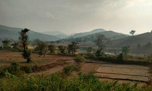 rural india seen from a train