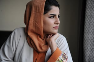 Maryam Sama poses for election campaign pictures.
