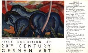 A flyer for the 1938 exhibition