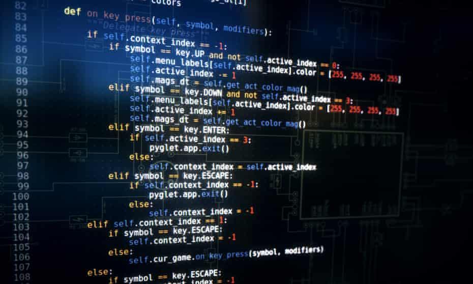 Python programming code on a screen