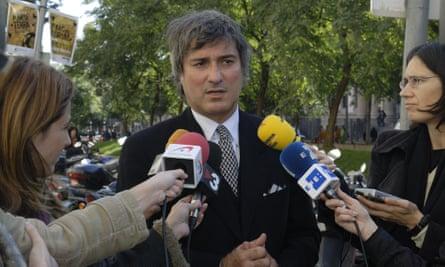 Paolo Macchiarini at a press conference in 2008.