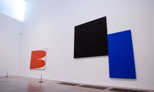 Black Square with Blue, 1970, at Kelly's Tate Modern retrospective