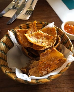 1 Deep-fried baked potato skins at The Parkers Arms in Newton-in-Bowland, Lancashire – God's own gastropub.