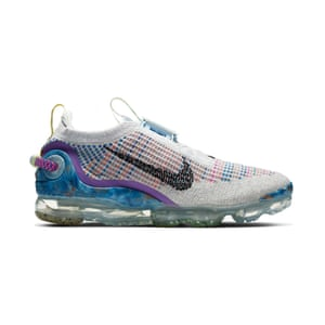 As part of Nike's journey towards lowering its impact, it is discovering new ways to put waste to good use. The Nike Air Vapormax is made from at least 50% recycled content by weight, using recycled polyester, recycled foam and recycled TPU. Vapormax, £189.95, nike.com
