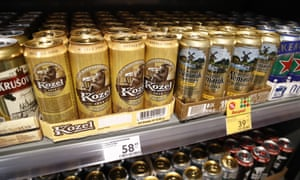 Beer for sale at a Russian grocery store