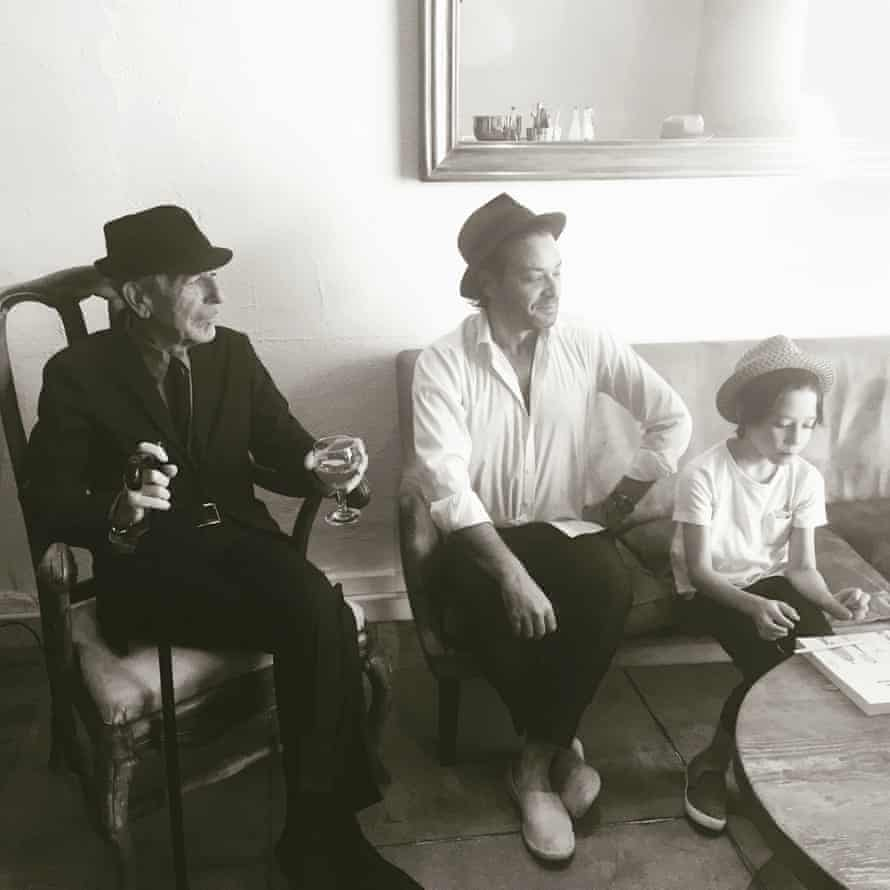 Leonard, Adam and Adam's son, Cassius, photographed at Leonard's house in Los Angeles, early 2016.