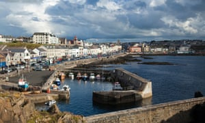 Portstewart harbour and promenade, Northern Ireland, UK.
