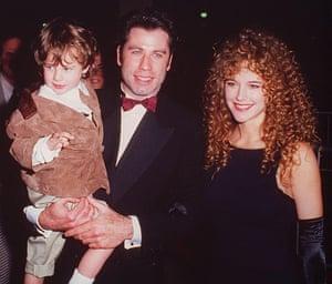Preston and Travola with child actor Lorne Sussman in 1994.