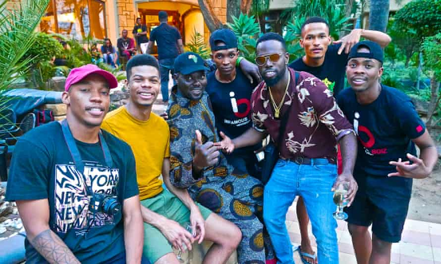 Talent ... (from left) Africa Express participants Muzi, Poté, Otim Alpha, Boiz1, Ghetts, Dominowe and Boiz2.