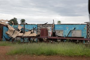 A local government building in Batibo, destroyed by ADF rebels