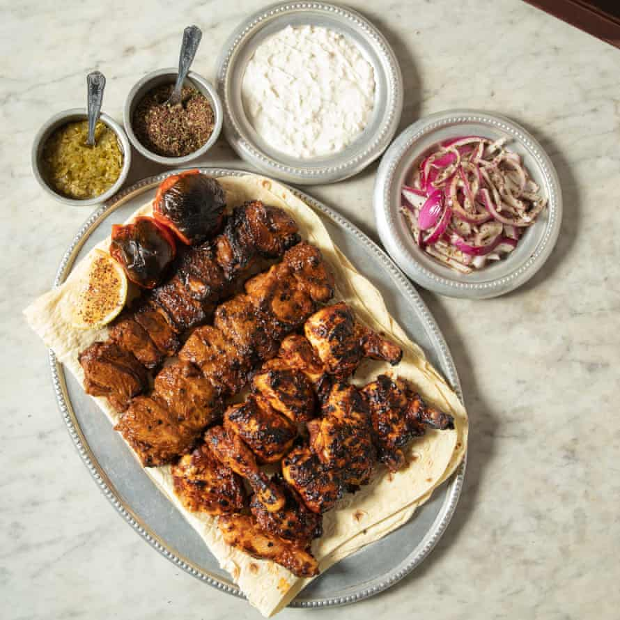 Kebabs, bread, salads and sauces from the Iranian grill restaurant group Berenjak