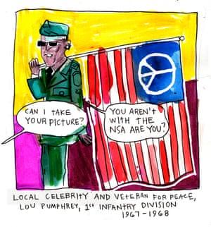 Fricas RNC cartoon veteran for peace