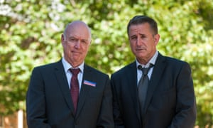John Clarke and Anthony LaPaglia play real estate agents in A Month of Sundays.