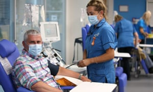 Simon Callon, a coronavirus survivor who has signed up to donate plasma for the trial.