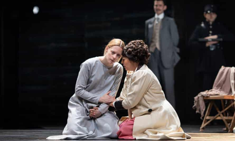 Lucy Phelps and Sophie Khan Levy in Measure for Measure.