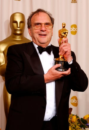 Harwood with his best adapted screenplay award for The Pianist at the Oscars in 2003.