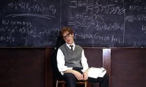Benedict Cumberbatch as Stephen Hawking.