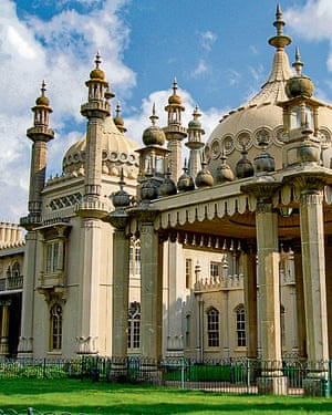 Brighton Royal PavilionThe former royal residence located in Brighton on England's south coast. It was built in the early 19th Century as a seaside retreat for the then Prince Regent.