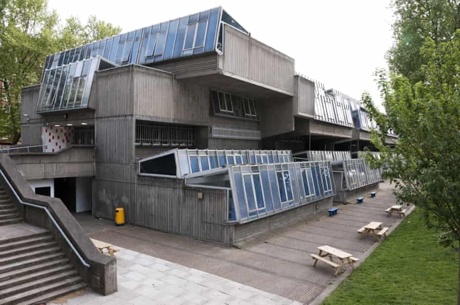 Pretty brutal … Pimlico School before it was demolished.