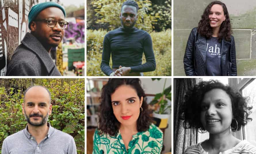 'The best of what short stories can do' … (clockwise from top left) Gift Nyoni, Inigo Laguda, Laura Blake, Sulaxana Hippisley, Nicola Sheppey and Amaan Hyder