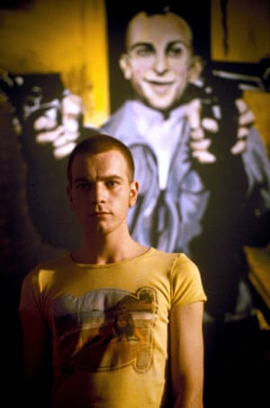 Ewan McGregor as a heroin addict in 1996's Trainspotting