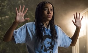Amandla Stenberg in the film adaptation of Angie Thomas's novel The Hate U Give.