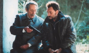 Johnny Hallyday, right, as Milan and Jean Rochefort as Manesquier in L'Homme du Train, 2003