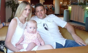 Paul Briggs, 43, with his daughter, Ella (now 5) and wife Lindsey