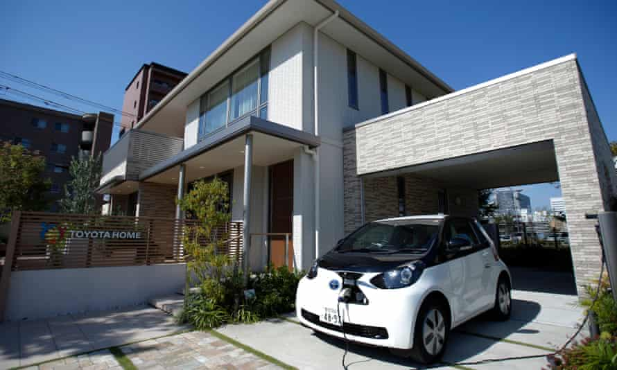 A smart home in Toyota's Ecoful Town in the Higashiyama district of Toyota City.