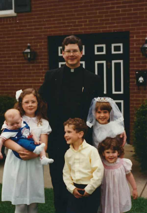 First Communion Pic in front of house Priestdaddy: A Memoir by Patricia Lockwood