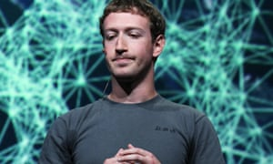CEO Mark Zuckerberg pauses during the Facebook f8 conference