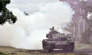 A tank takes part in an annual drill at a military base in the eastern Taiwan city of Hualien last year. The US has approved the sale of 108 tanks and 250 Stinger missiles to Taiwan's military.