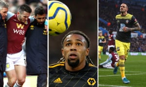 John McGinn of Aston Villa; Adama Traore of Wolves; Danny Ings of Southampton.