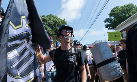 Neo-Nazis, white supremacists and other alt-right factions rallied in Charlottesville, Virginia, on 12 August.