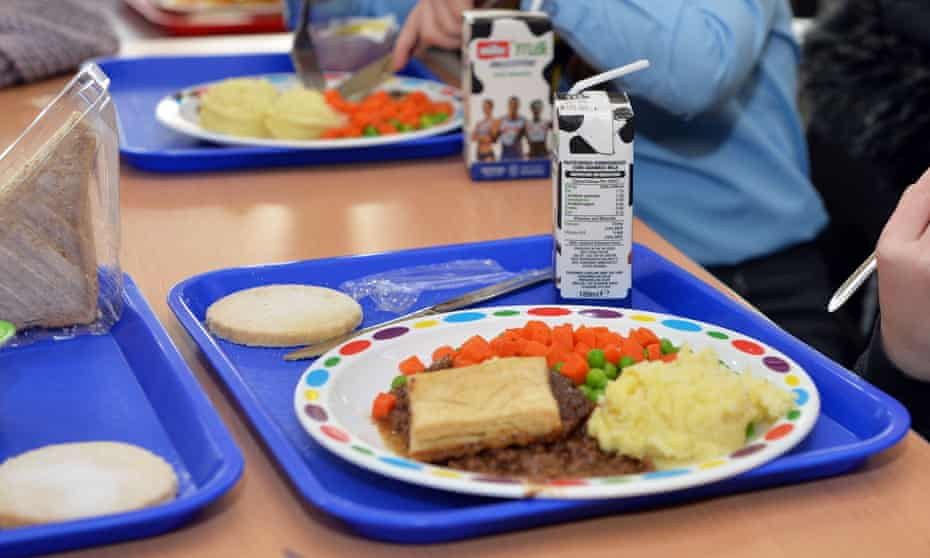 Children eating free school meals in England