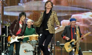 The Rolling Stones in concert in 2013, with, from left, Ronnie Wood, Charlie Watts, Mick Jagger and Keith Richards.