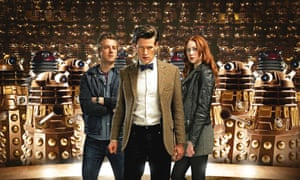 Doctor Who - Series 7Programme Name: Doctor Who - TX: n/a - Episode: Asylum of the Daleks (No. 1) - Embargoed for publication until: 15/08/2012 - Picture Shows: Rory Williams (ARTHUR DARVILL), The Doctor (MATT SMITH), Amy Pond (KAREN GILLAN) - (C) BBC - Photographer: Todd Antony