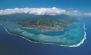 Tahiti Island, French Polynesia. Three-quarters of the world's small islands are set to get more arid by mid-century.