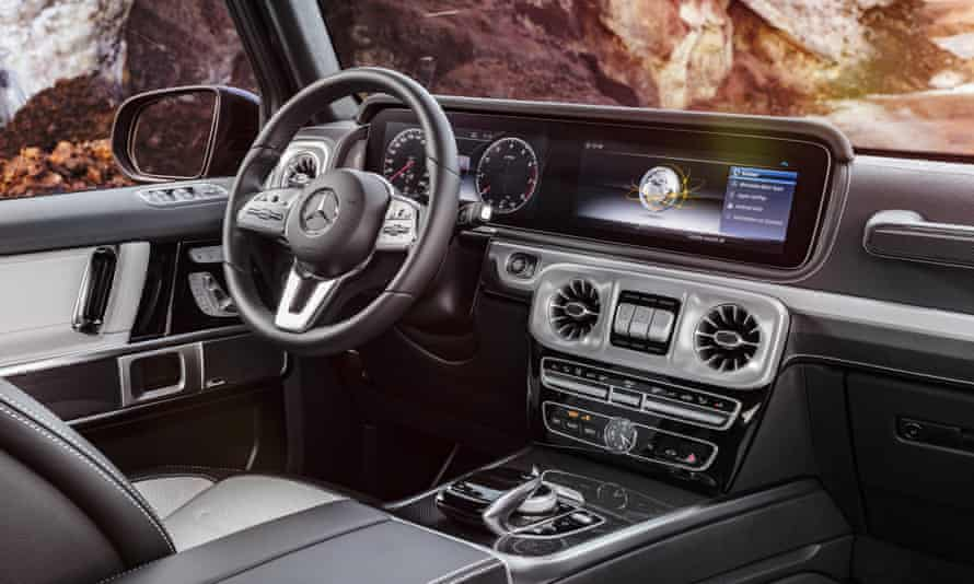 Inside story: despite the retro styling, the interior of the G-Class is every bit as luxurious as you would expect