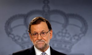 Spain's acting prime minister Rajoy.