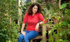 Charlotte Mendelson, author of Rhapsody in Green, in her garden in London