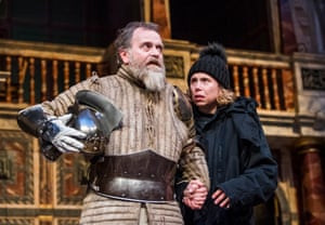 Michelle Terry played Hamlet – with Colin Hurley as the Ghost – in her first season as artistic director of Shakespeare's Globe in 2018.