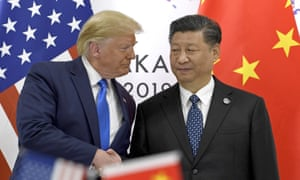 Trump with Chinese premier Xi Jinping in June.