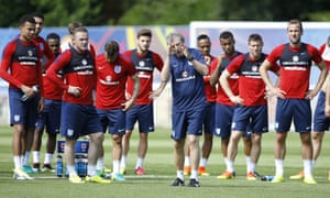 Roy Hodgson was irritated by England's lack of quality in training at Chantilly on Thursday.