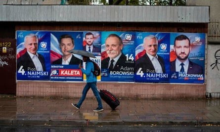 Election posters in Warsaw