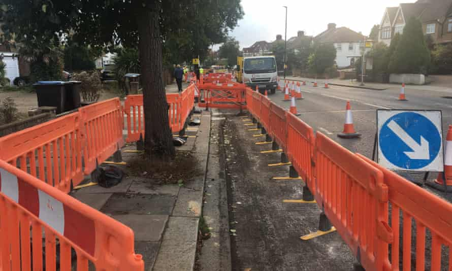 Early works on the Green Lanes cycle lane.