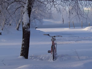 Cycling is common all year round in Joensuu
