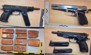 Guns and drugs seized by the National Crime Agency in a cross-Channel investigation.