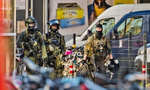 Armed police in Cologne, Germany