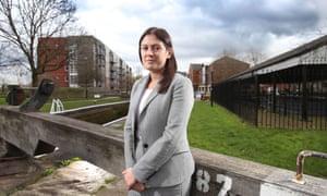 Lisa Nandy in her Wigan constituency.
